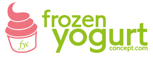 Frozen Yogurt Concept Logo